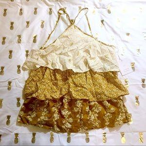 NWT Lauren Conrad Gold Sleeveless Blouse - XS